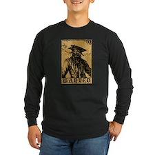 Blackbeard Wanted Poster Long Sleeve T-Shirt