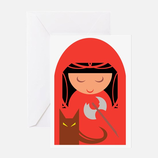 Red Riding Hood and her Big Bad Wolf Greeting Card
