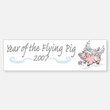 Flying Pig 2007 Bumper Bumper Bumper Sticker