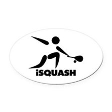 Game Of Squash iSquash Logo Oval Car Magnet