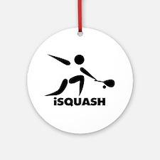 Game Of Squash iSquash Logo Ornament (Round)