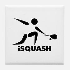 Game Of Squash iSquash Logo Tile Coaster