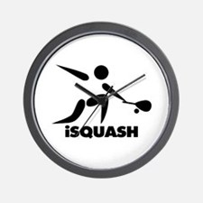 Game Of Squash iSquash Logo Wall Clock