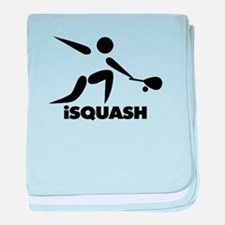 Game Of Squash iSquash Logo baby blanket