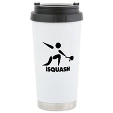 Game Of Squash iSquash Logo Travel Mug