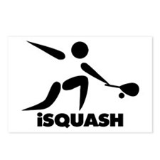 Game Of Squash iSquash Logo Postcards (Package of