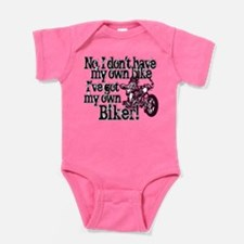 Got My Own Biker Baby Bodysuit