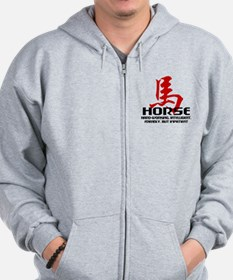 Year of The Horse Characteristics Zip Hoodie