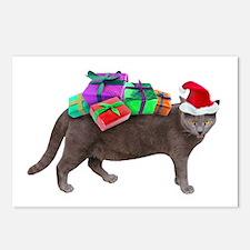 Santa Cat Presents Postcards (Package of 8)