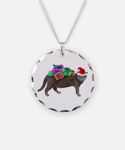 Santa Cat Presents Necklace