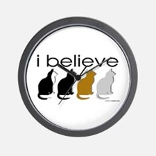 I believe in cats Wall Clock