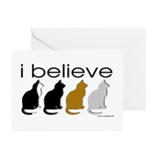 I believe in cats Greeting Cards (Pk of 10)