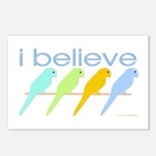 I believe in parakeets Postcards (Package of 8)