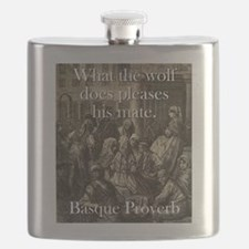 What The Wolf Does - Basque Proverb Flask