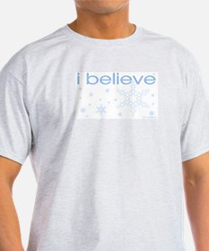 I believe in snow Ash Grey T-Shirt