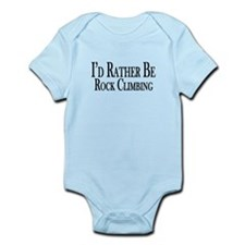 Rather Be Rock Climbing Infant Bodysuit