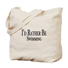 Rather Be Swimming Tote Bag