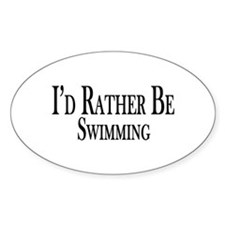 Rather Be Swimming Decal