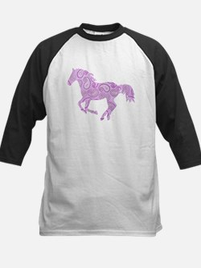 Purple Paisley Horse Baseball Jersey