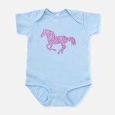 Purple Paisley Horse Body Suit