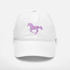Purple Paisley Horse Baseball Baseball Baseball Cap