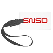 snsd-saved-red Luggage Tag