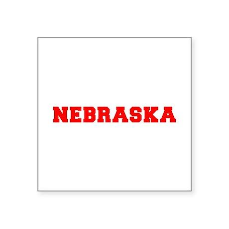 nebraska-fresh-red Sticker