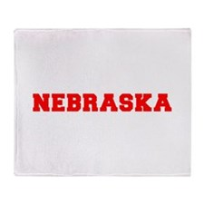 nebraska-fresh-red Throw Blanket