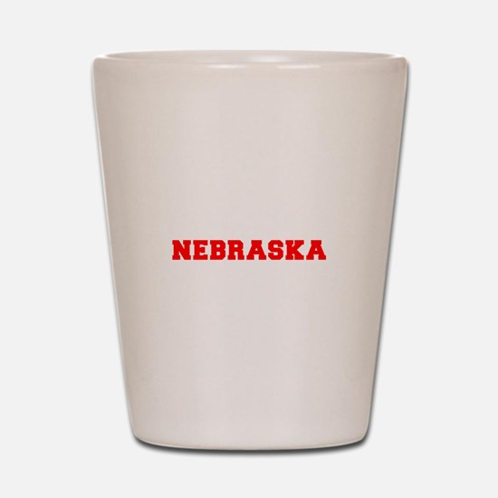 nebraska-fresh-red Shot Glass