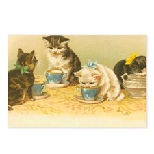 Cute Victorian cat cats vintage kitten kittens Postcards (Package of 8)