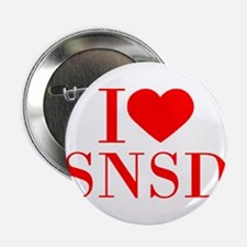 """I-love-snsd-bod-red 2.25"""" Button"""