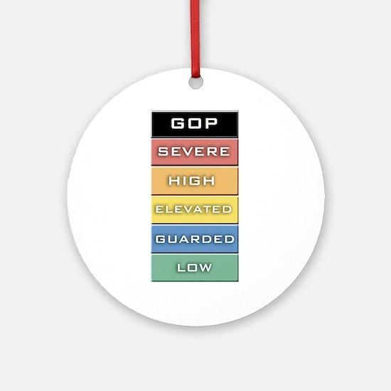 GOP Terror Alert Level Ornament (Round)