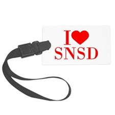 I-love-snsd-bod-red Luggage Tag
