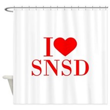 I-love-snsd-bod-red Shower Curtain