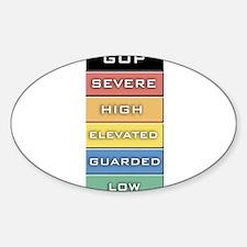 GOP Terror Alert Level Oval Decal