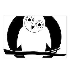 owl eule owlet kauz moon  Postcards (Package of 8)