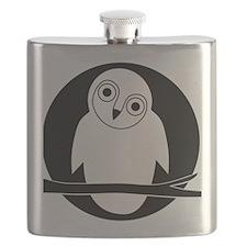owl eule owlet kauz moon mond Flask