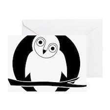 owl eule owlet kauz moon mond Greeting Card