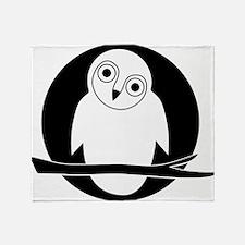 owl eule owlet kauz moon mond Throw Blanket