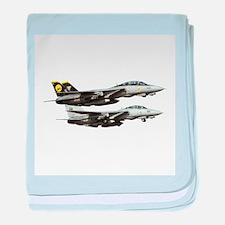 F-14 Tomcat Fighter baby blanket