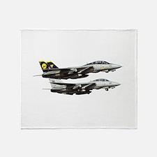 F-14 Tomcat Fighter Throw Blanket