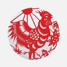 Zodiac, Year of the Rooster Ornament (Round)