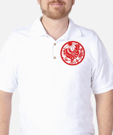 Zodiac, Year of the Rooster Golf Shirt