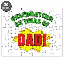 Celebrating Dad's 30th Birthday Puzzle