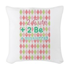 2 Cute Woven Throw Pillow