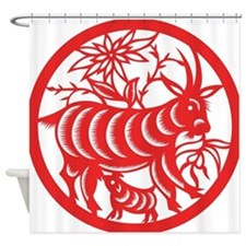 Zodiac, Year of the Goat Shower Curtain