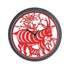 Zodiac, Year of the Goat Wall Clock
