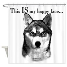 Sibe Happy Face Shower Curtain