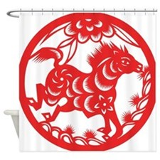 Zodiac, Year of the Horse Shower Curtain