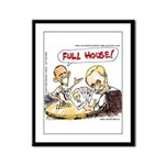 Putin And Obama Poker Framed Panel Print